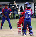 Zain Abbas is bowled by Mohammad Nabi for 69. Hong Kong v. Afghanistan, ICC WCL Div 4, 08.10.2008