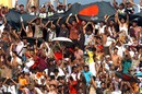 Bangladesh supporters cheer their team on, Bangladesh v New Zealand, 1st ODI, Mirpur, October 9, 2008