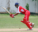 Skhawat Ali scored a valuable 47. Hong Kong v. Jersey, ICC WCL Div 4 - 10.10.2008