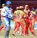Ahmedabad celebrate the wicket of Avishka Gunawardene, Ahmedabad Rockets v Delhi Giants, ICL, Hyderabad, October 12, 2008
