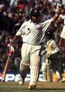 Sachin Tendulkar, hampered by a bad back, reaches his hundred, India v Pakistan, 1st Test, Chennai, January 28-31, 1999