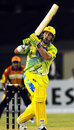 Matthew Elliott slogs in his 32-ball 38, Chandigarh Lions v Mumbai Champs, Hyderabad, October 13, 2008