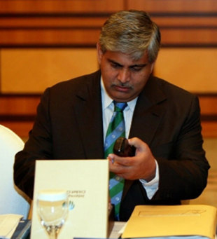 Shashank Manohar at the ICC's board meeting, Dubai, October 14, 2007