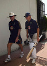 Greg Chappell and Shane Watson exit the ground