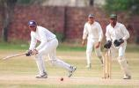 Ijaz Junior attempts a shot towards square-leg.  ABL Vs Gujranwala at LCCA Ground Lahore,27 March 2000.