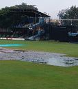 A dank scene at the Nairobi Gymkhana where another match - Kenya's against Zimbabwe - was abandoned without a ball being bowled, Kenya v Zimbabwe, 6th match, Nairobi, October 23, 2008