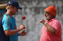 Bishan Bedi gives bowling tips to Cameron White