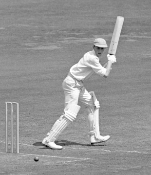 Henry Blofeld batting in the Varsity match, Cambridge University v Oxford University, Lord's, July 14, 1959
