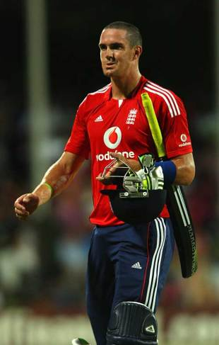 What happened there? Kevin Pietersen ponders England's problems, Superstars v England, Antigua, November 1, 2008