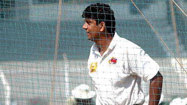 Sairaj Bahutule has a hit at the nets