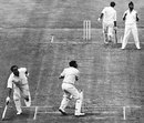 Farokh Engineer runs John Jameson out for 82, England v India, 3rd Test, The Oval, 1st day, August 19, 1971