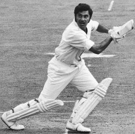 Farokh Engineer plays a cut shot, England v India, 3rd Test, The Oval, 3rd day, August 21, 1971