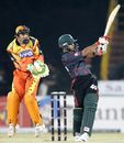 Nazimuddin launches the ball over midwicket, Ahmedabad Rockets v Dhaka Warriors, ICL, Panchkula, November 3, 2008