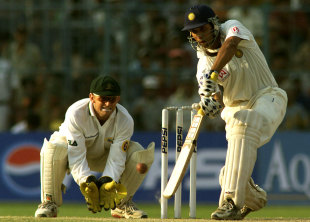 VVS Laxman drives on his way to 281, India v Australia, 2nd Test, Kolkata, 4th day, March 14, 2001