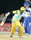 TP Singh punches the air on reaching his fifty, Chandigarh Lions v Delhi Giants, ICL, Panchkula, November 5, 2008