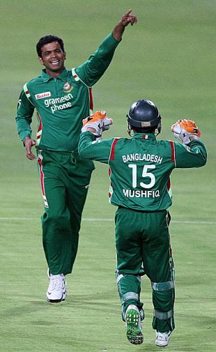 Abdur Razzak celebrates one of his four wickets, South Africa v Bangladesh, Twenty20, Johannesburg, November 5, 2008