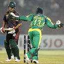 Nazimuddin reacts after being bowled, Dhaka Warriors v Lahore Badshahs, ICL, Ahmedabad, November 7, 2008