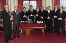Geoff Cook and Durham are presented with the County Championship title by HRH The Duke of Edinburgh, Buckingham Palace, November 11, 2008