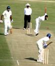Debutant Mohd Muddassar bowls, Himachal Pradesh v Jammu and Kashmir, Ranji Trophy Plate League, 3rd round, Dharamsala, 1st day, November 16, 2008