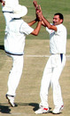 Vikramjeet Malik celebrates a wicket, Himachal Pradesh v Jammu and Kashmir, Ranji Trophy Plate League, 3rd round, Dharamsala, 1st day, November 16, 2008