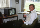 The third umpire, Barry Dudleston, England v Australia, 3rd Test, Trent Bridge, June, 1993