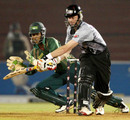 Dhiman Ghosh looks to collect the ball down the leg side, ICL Bangladesh XI v ICL World XI, Ahmedabad, November 23, 2008