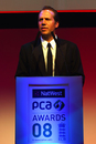 Sean Morris, the PCA Chief Executive, speaks at the NatWest PCA Awards dinner, September 29, 2008