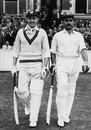 Openers Jeffrey Stollmeyer and Allan Rae come out to bat, England v West Indies, 4th Test, The Oval, 1st day, August 12, 1950