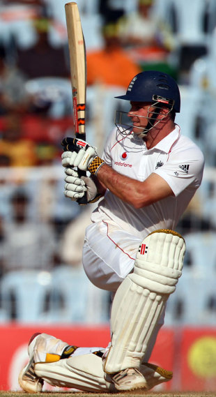 Andrew Strauss sweeps, India v England, 1st Test, Chennai, 3rd day, December 13, 2008
