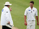 Colin de Grandhomme is warned for bowling too many bouncers