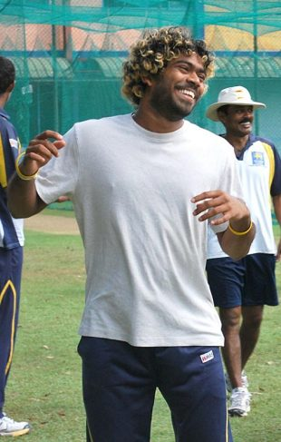 Lasith Malinga is all smiles, Colombo, December 16, 2008