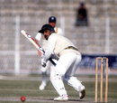 Tauseef Ahmed scored 5 not out, Pakistan v England, 1st Test, 27 November 1987, Lahore