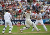 Graeme Smith pulls, England v South Africa, third Test, Edgbaston, 2 August 2008