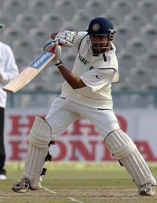 Gautam Gambhir plays the cover drive, India v England, 2nd Test, Mohali, 5th day, December 23, 2008