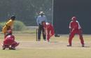 Chan Sau Har bowls against Malaysia