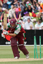 Brendan Nash is bowled for 12, New Zealand v West Indies, 1st ODI, Queenstown, December 31, 2008