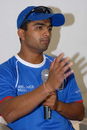 Saurashtra captain Jaydev Shah at the press conference a day before the Ranji Trophy semi-final against Mumbai, Chennai, January 3, 2008