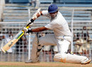 Shitanshu Kotak cuts on his way to a half-century, Mumbai v Saurashtra, Ranji Super League semi-final, 3rd day, Chennai, January 6, 2009