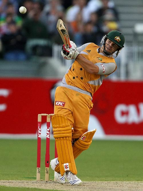 David Warner goes over the top on his way to 89 on debut