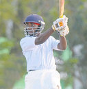 Nekoli Parris on his way to his maiden hundred, Combined Campuses and Colleges v Guyana, Barbados, January 18, 2009