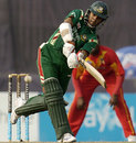 Mehrab Hossain jnr plays a shot through the leg side, Bangladesh v Zimbabwe, 2nd ODI, Mirpur, January 21, 2008