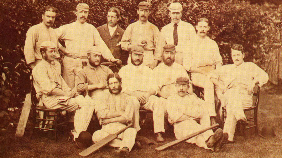 The 1876-77 squad which played the first Test against Australia