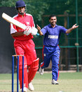 Hasti Gul claims one of his two wickets, Afghanistan v Hong Kong, World Cricket League, Buenos Aires, January 25, 2009