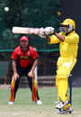 Benjamin Musoke plays a square cut to the boundary, Papua New Guinea v Uganda, World Cricket League, Buenos Aires, January 27, 2009