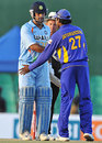 Mahendra Singh Dhoni and Mahela Jayawardene shake hands after India's win , Sri Lanka v India, 1st ODI, Dambulla, January 28, 2009