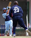 Lucas Paterlini lofts Ryan Bovell over long-on, Argentina v Cayman Islands, World Cricket League, Buenos Aires, January 28, 2009