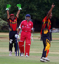 The loss of Manoj Cheruparambil's wicket was a big blow for Hong Kong, ICC WCL Division 3