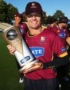 James Marshall with the trophy, Northern Districts v Otago, State Shield final, Hamilton, January 31, 2009