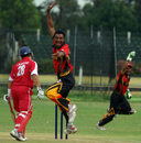 Hong Kong's Roy Lamsam is caught behind off Willie Gavera, Hong Kong v Papua New Guinea, World Cricket League, Buenos Aires, January 30, 2009