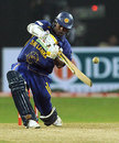Thilina Kandamby hits out during the tense phase of the chase, Sri Lanka v India, 2nd ODI, Colombo, January 31, 2009